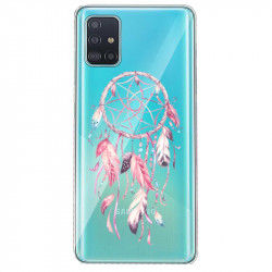 Coque transparente pour Samsung Galaxy S20 Plus feminine attrape reve rose