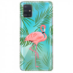 Coque transparente pour Samsung Galaxy S20 Plus Flamant Rose