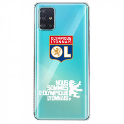 Coque pour transparente Samsung Galaxy S20 Plus Licence Olympique Lyonnais - double face