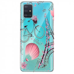 Coque transparente pour Samsung Galaxy S20 Plus Paris mongolfiere