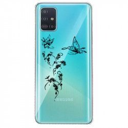 Coque transparente pour Huawei P40 feminine envol fleur