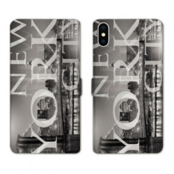 RV Housse cuir portefeuille pour Samsung Galaxy A01 Amerique USA New York