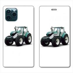 RV Housse cuir portefeuille pour Huawei P40 Agriculture Tracteur Blanc