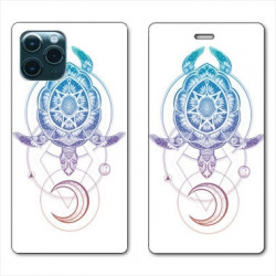 RV Housse cuir portefeuille pour Huawei P40 Animaux Maori tortue color