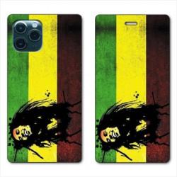 RV Housse cuir portefeuille pour Huawei P40 Bob Marley Drapeau