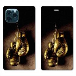 RV Housse cuir portefeuille pour Huawei P40 Boxe gant vintage