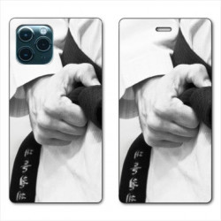 RV Housse cuir portefeuille pour Huawei P40 Judo Kimono