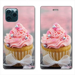 RV Housse cuir portefeuille pour Huawei P40 Pro Cupcake
