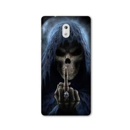 Coque pour Nokia 2.3 tete de mort Doigt