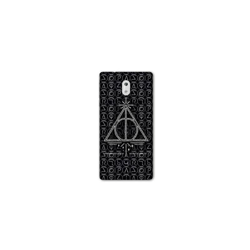 Coque pour Nokia 2.3 WB License harry potter pattern triangle noir