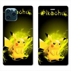 RV Housse cuir portefeuille pour Huawei P40 Pro Pokemon Pikachu eclair