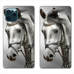 RV Housse cuir portefeuille pour Huawei P40 Pro Cheval
