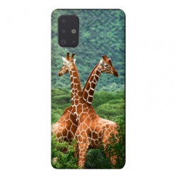 Coque pour Samsung Galaxy Note 10 Lite savane Girafe Duo