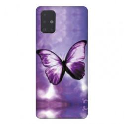 Coque pour Samsung Galaxy Note 10 Lite papillons violet et blanc
