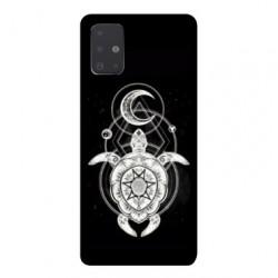 Coque pour Samsung Galaxy Note 10 Lite Animaux Maori Tortue noir