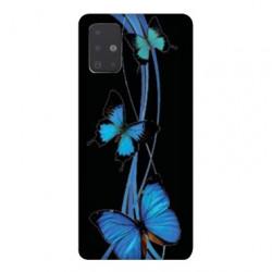 Coque pour Samsung Galaxy Note 10 Lite papillons bleu