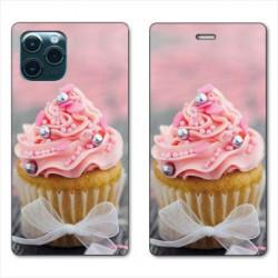 RV Housse cuir portefeuille pour Samsung Galaxy Note 10 Lite Cupcake
