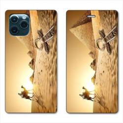 RV Housse cuir portefeuille pour Samsung Galaxy Note 10 Lite Egypte Chameau