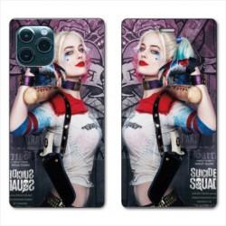 RV Housse cuir portefeuille pour Samsung Galaxy Note 10 Lite Harley Quinn Batte