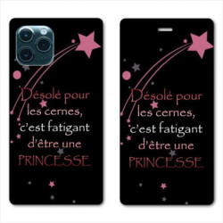 RV Housse cuir portefeuille pour Samsung Galaxy Note 10 Lite Humour princesse