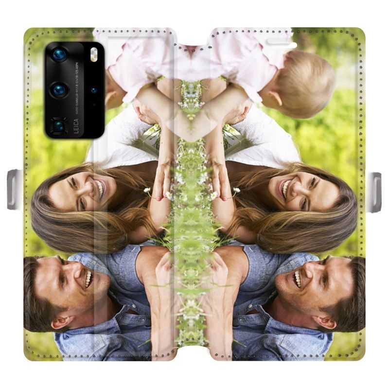 RV Housse cuir portefeuille pour Huawei P40 Pro recto / verso