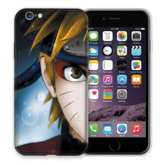 Coque pour iphone 6 / 6s Manga Naruto blanc