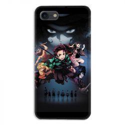 Coque pour iphone 7  / 8 / SE (2020) Manga Demon Slayer Noir