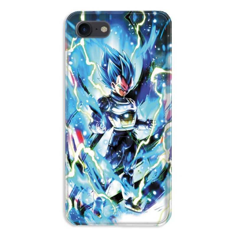 coque pour iphone 7 8 manga dragon ball vegeta bleu