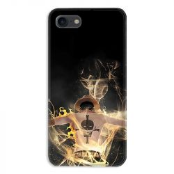 Coque pour iphone 7  / 8 / SE (2020) Manga One Piece Ace noir
