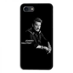 Coque pour iphone 7  / 8 / SE (2020) Johnny Hallyday Noir