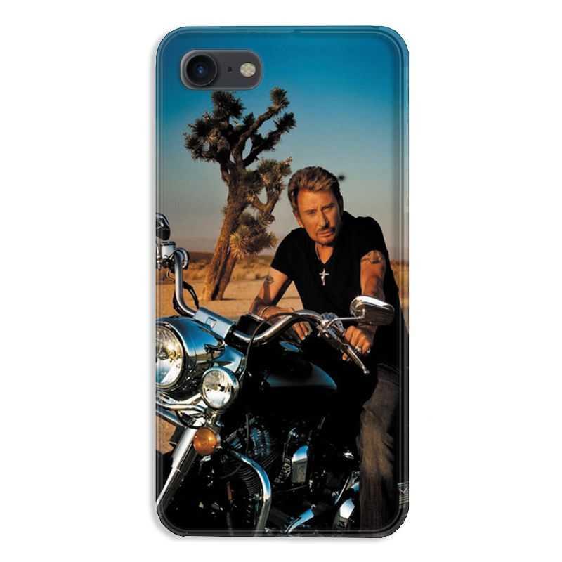 coque pour iphone 7 8 johnny hallyday moto