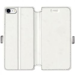 Housse cuir portefeuille Iphone 7 / 8 / SE (2020) personnalisee recto / verso
