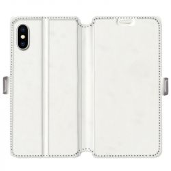 Housse cuir portefeuille Iphone XR personnalisee recto / verso