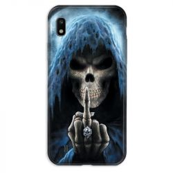 Coque pour Samsung Galaxy A10 tete de mort Doigt