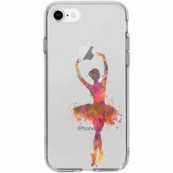 Coque transparente pour iphone 7  / 8 / SE (2020) Danseuse etoile