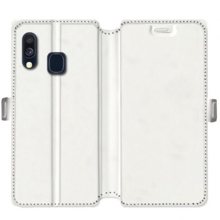 Housse cuir portefeuille Samsung Galaxy A40 personnalisée recto / verso