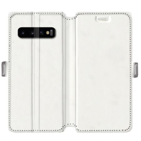 Housse cuir portefeuille Samsung Galaxy S10 personnalisee