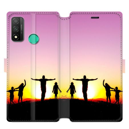 Housse cuir portefeuille Huawei P Smart (2020) personnalisee