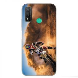 Coque pour Huawei P Smart (2020) Moto Cross Blanc