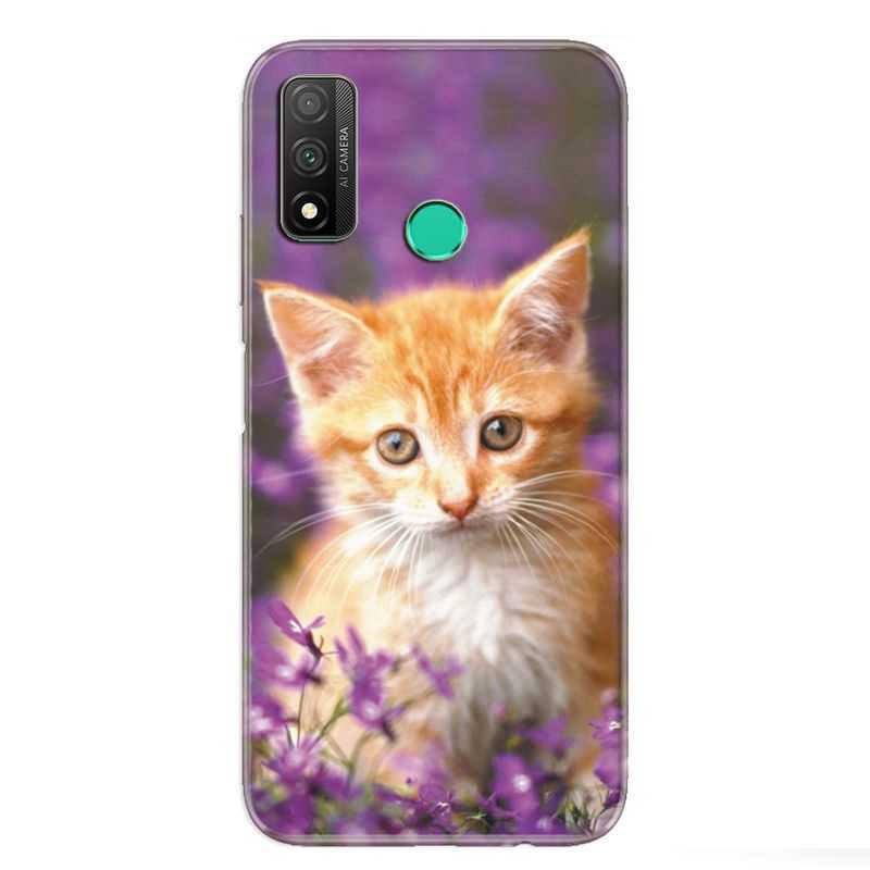 Coque pour Huawei P Smart (2020) Chat Violet