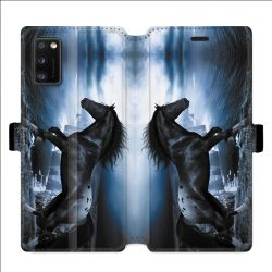 Housse cuir portefeuille pour Samsung Galaxy A41 Cheval