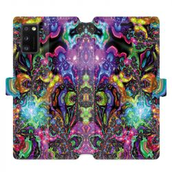 Housse cuir portefeuille pour Samsung Galaxy A41 Psychedelic colore