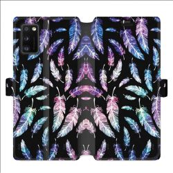 Housse cuir portefeuille pour Samsung Galaxy A41 Psychedelic Plume