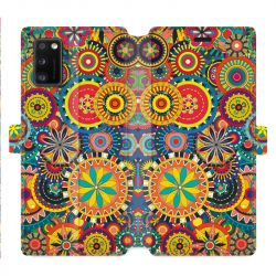 Housse cuir portefeuille pour Samsung Galaxy A41 Psychedelic Roue