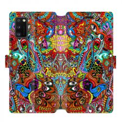 Housse cuir portefeuille pour Samsung Galaxy A41 Psychedelic Yeux