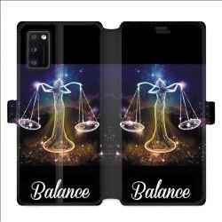 Housse cuir portefeuille pour Samsung Galaxy A41 signe zodiaque 2 Balance