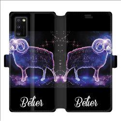 Housse cuir portefeuille pour Samsung Galaxy A41 signe zodiaque 2 Bélier