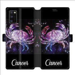 Housse cuir portefeuille pour Samsung Galaxy A41 signe zodiaque 2 Cancer