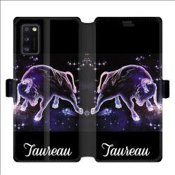 Housse cuir portefeuille pour Samsung Galaxy A41 signe zodiaque 2 Taureau