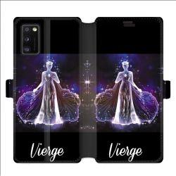 Housse cuir portefeuille pour Samsung Galaxy A41 signe zodiaque 2 Vierge